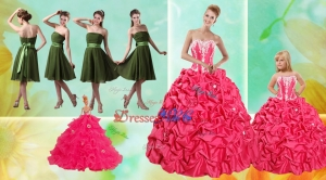 Pick Ups Ball Gown Quinceanera Dress And Strapless Ruching Short Prom Dress And Appliques Little G