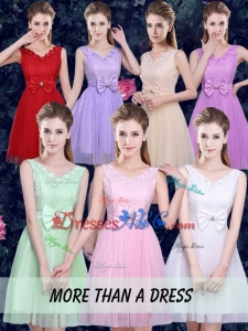 2017 New Arrival Beautiful Dama Dresses with Bowknot