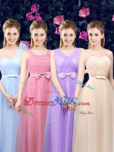 2017 Gorgeous Tea Length Dama Dresses with Hand Made Flower