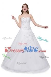 Puffy Sweetheart Embroideried White Quinceanera Dress for 16 Brithday Party