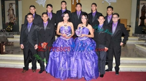 Top Seller Beaded Top and Decorated Waist Organza Quinceanera Package in Purple