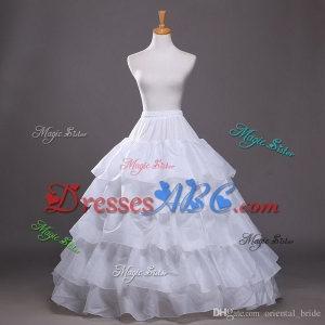Hot Sale New Bridal Crinoline Petticoats 4 Layers Ruffles Ball Gown underskirt wedding Dresses