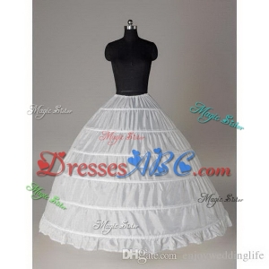 Super Cheap Ball Gown 6 Hoops Petticoat Wedding Slip Crinoline Bridal Underskirt Layes Slip 6 Hoop S
