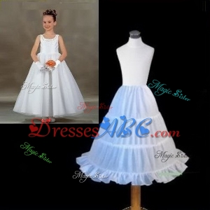 Little Girls' Petticoats for Kids Formal Dress Length 57 cm Children Underskirt Wear Accessory Light