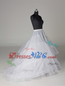 Free shipping Hot Sale White 3 Hoop Petticoat Crinoline Slip Underskirt Bridal Wedding Dress Bridal