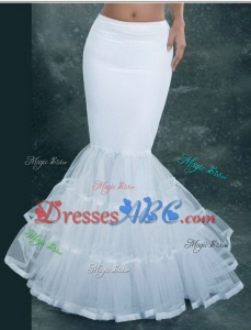 Mermaid Bridal Petticoat White Wedding Dress Underskirt Bridal Petticoat Crinoline Bridal Accessorie