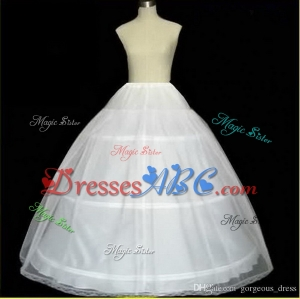 Hot sale Cheapeat 3 Hoop Bridal Gown Dress Petticoat Underskirt Crinoline Wedding Accessories Pettic