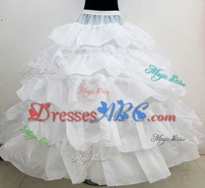 New Hot Sales 4 Hoops Bridal Petticoats For Ball Gown Wedding Dress Cascading Ruffles Fabric Undersk