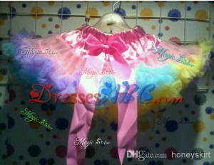 Clearance sale European popular design multi-color flower girls tutu skirts and petticoat at retail