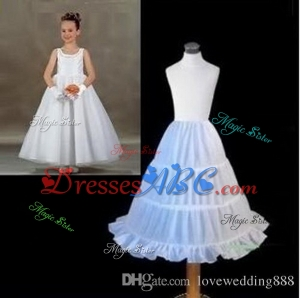 New On Sale in Stock Cheap Three Hoops Underskirt Little Girls A-Line Petticoats Slip Ball Gowns Cri