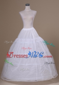 High Quality 3 Hoops Crinoline Underskirt A-line Petticoat For Wedding Dress Bridal Gown In Stock Fr