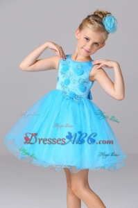 Beautiful A-Line Appliques Baby Blue Flower Girl Dresses for Wedding Party