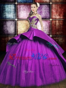 Western Style Luxurious Really Puffy Court Train Embroideried Quinceanera Dress in Satin and Tulle