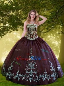 Brand New Strapless Brown Quinceanera Dresses with Appliques