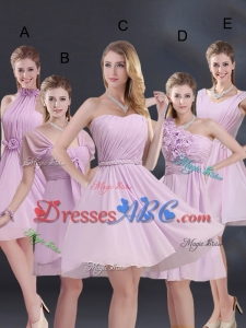 2017 Exquisite Chiffon Short Dama Dress with Ruching