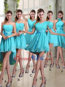 Cheap Ruching A Line Chiffon Lace Up Dama Dress