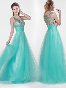 Lovely Empire Scoop Beading Pageant Dress