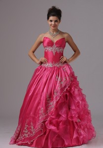 Ruffled Layers Appliques And Sweetheart For Pageant Dress In Alabama