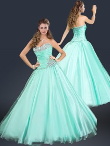 Perfect Sweetheart Beading Sweet 16 Dress In Apple Green