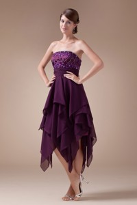 Appliques Empire Short Strapless Homecoming Dress