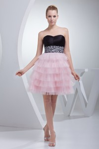 Beading And Ruffled Layers Sweetheart Mini-length Cocktail Dress