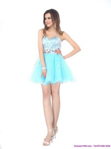 The Super Hot Sweetheart Light Blue Cocktail Dress With Sequins