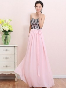 Elegant Empire Sweetheart Laced Prom Dress With Belt