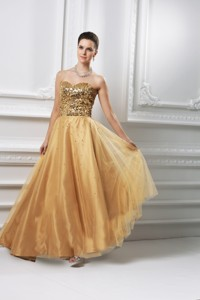 Sweetheart Beading Organza Floor-length Prom Dress