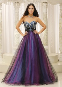 Leopard Sweetheart And Belt For Dama Dress For Quinceanera Colorful Tulle In Texas