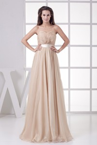 Most Popular Ruched Sweetheart Empire Long Graduation Dress
