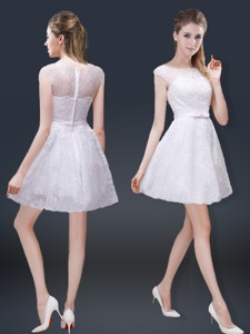 Lovely Cap Sleeves Graduation Dress With With In Lace