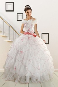 Appliques And Belt Brand New Quinceanera Dress