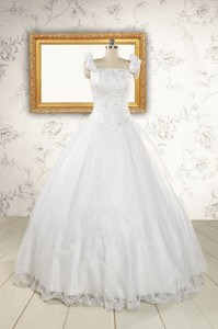 Wonderful White Quinceanera Dress With Appliques And Beading