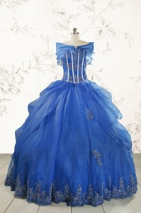Royal Blue Quinceanera Dress With Appliques