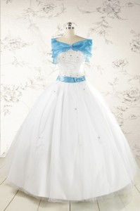 Appliques White Cheap Quinceanera Dress With Wraps