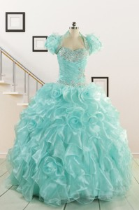 Beautiful Quinceanera Dress With Appliques And Ruffles