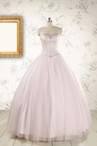 Pretty Beading Light Pink Quinceanera Dress