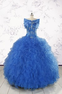 Beautiful Quinceanera Dress In Royal Blue Appliques