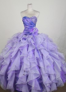 Gorgeous Ball Gown Sweetheart Neck Floor-length Lavender Quinceanera Dress