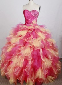 Luxurious Ball Gown Sweetheart Neck Floor-length Quinceanera Dress