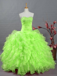 Gorgeous Sweetheart Quinceanera Dress In Spring Green