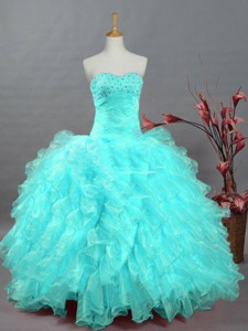 Pretty Sweetheart Beaded Quinceanera Dress In Organza