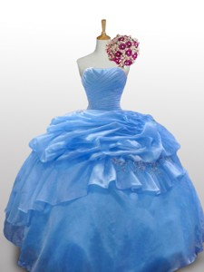 Flirting Strapless Quinceanera Dress With Paillette And Ruffled Layers