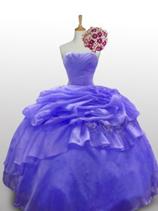 Cute Beaded And Paillette Quinceanera Dress With Ruffled Layers