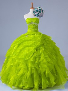 Perfect Strapless Quinceanera Dress With Beading And Ruffles