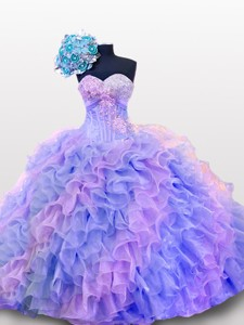 Beaded And Sequins Sweetheart Quinceanera Dress