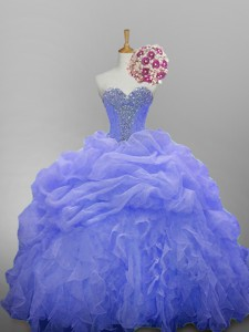 Luxurious Sweetheart Quinceanera Dress With Beading And Ruffled Layers