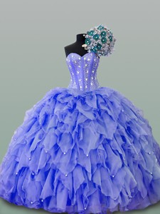 Quinceanera Dress With Beading And Ruffles