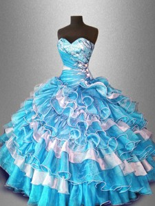 Ball Gown Popular Sweet 16 Dress With Beading And Ruffles