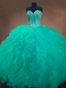 Cheap Sweetheart Ball Gown Sweet 16 Dress In Turquoise
